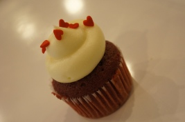 Luxurious red velvet cupcake